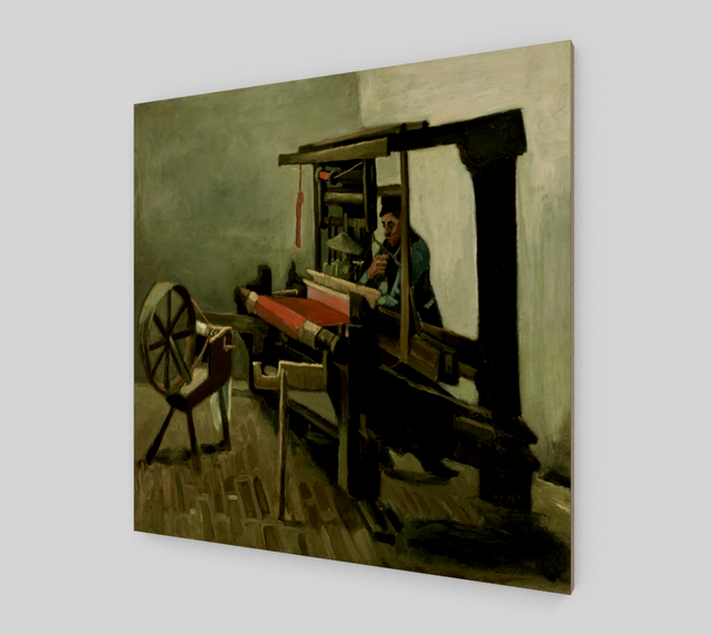 Weaver Facing Left with Spinning Wheel by Vincent Van Gogh | Fine Arts