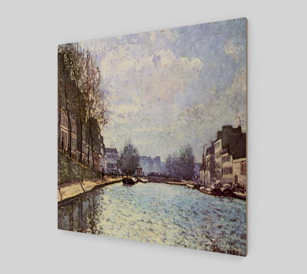 View of the Canal Saint-Martin by Alfred Sisley