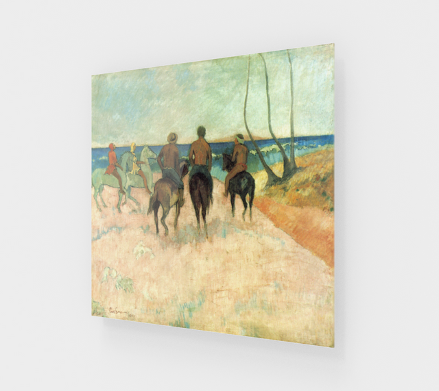 Riders on the Beach by Paul Gauguin | Acrylic Wall Art Decor