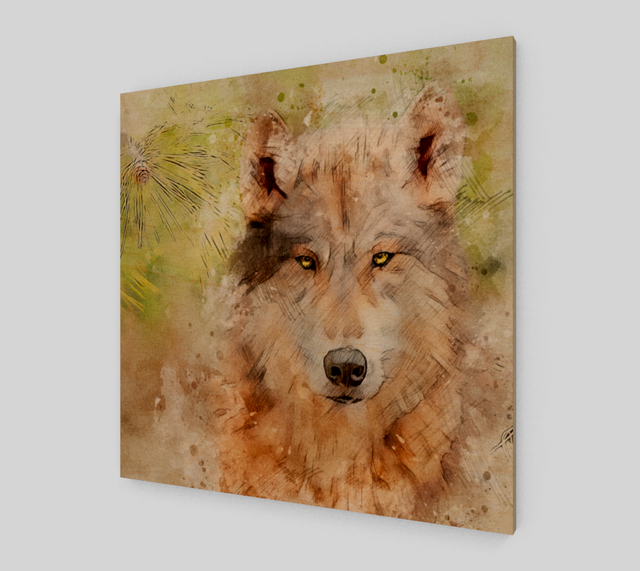 Wolf Painting On Canvas For Sale {Art Prints}