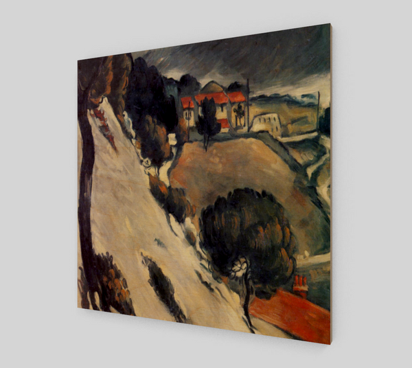 L'Estaque Melting Snow by Paul Cézanne | Canvas Fine Arts