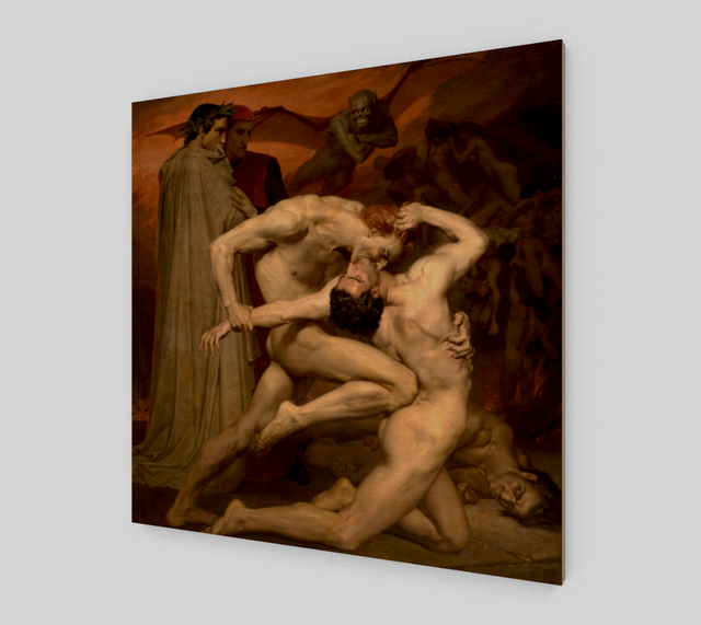 Dante and Virgil by William-Adolphe Bouguereau