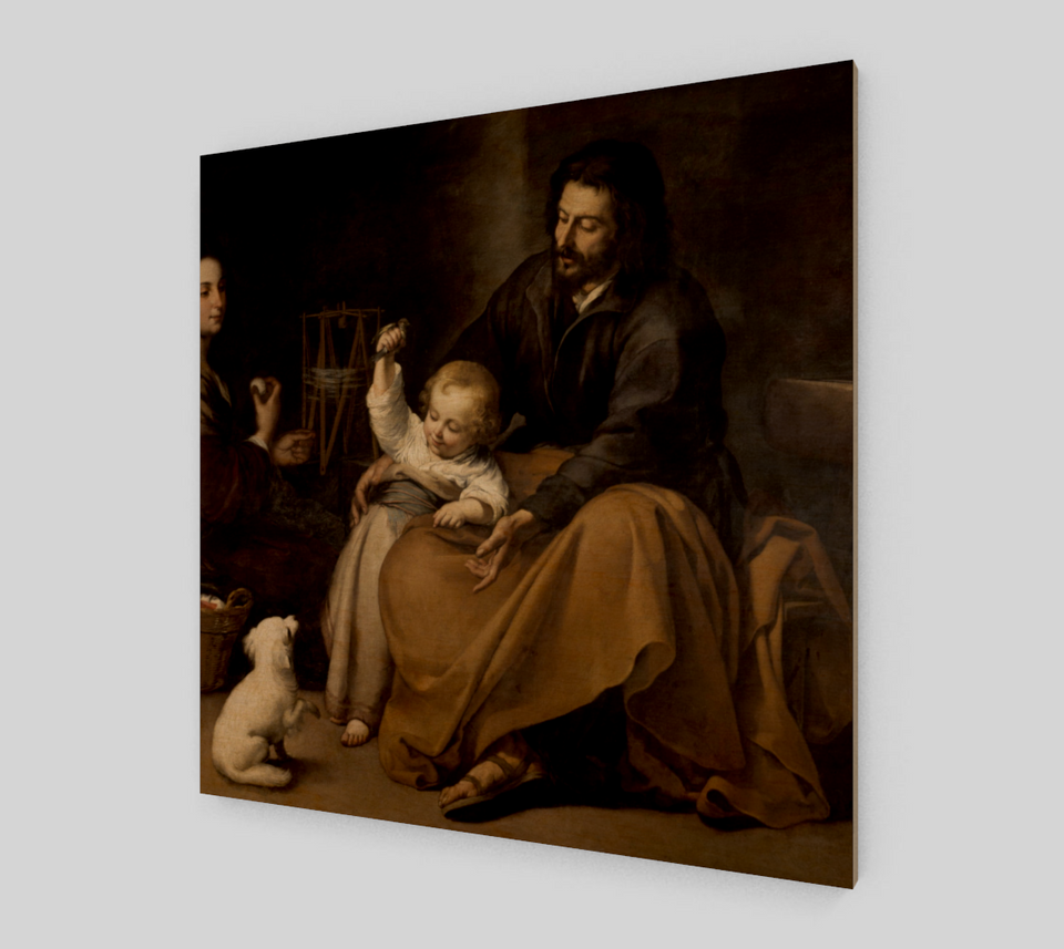 The Holy Family with the dog by Bartolome Esteban Murillo