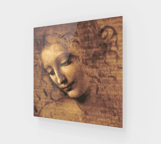 Head of a Woman Painting by Leonardo da Vinci Art For Sale