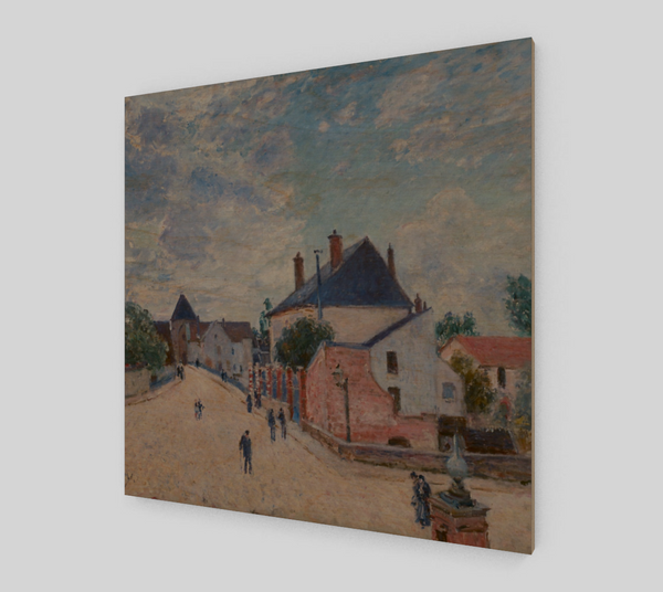 Street in Moret by Alfred Sisley