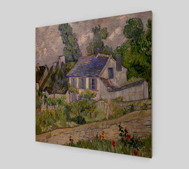 Auvers' houses by Vincent Van Gogh