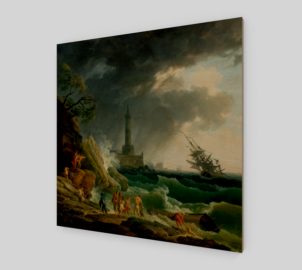A Storm on a Mediterranean Coast Painting by Claude-joseph Vernet