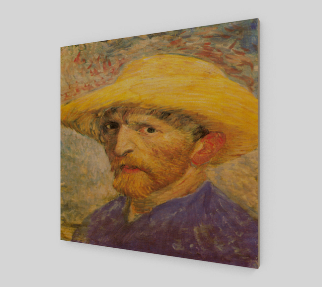 Self-Portrait with Straw Hat by Vincent Van Gogh | Fine Arts