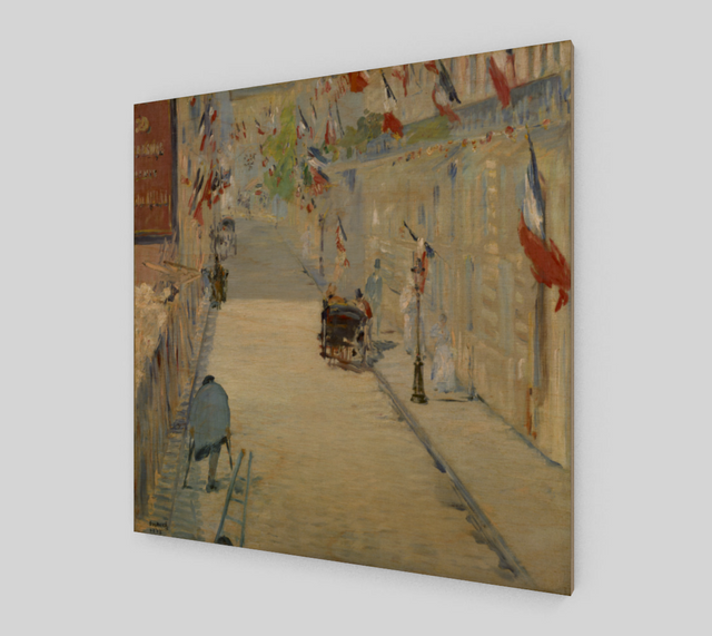 The Rue Mosnier Dressed with Flags by Édouard Manet