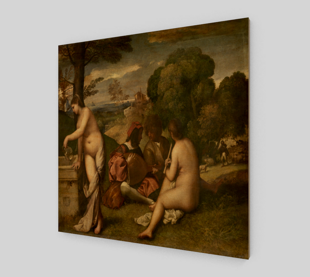 Pastoral Concert by Giorgione and Titian - Famous Painting