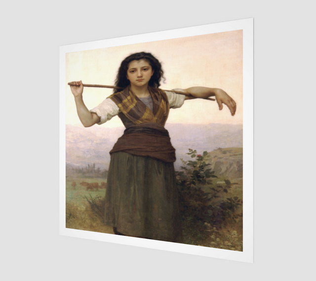 The-Shepherdess-by-William-Adolphe-Bouguereau