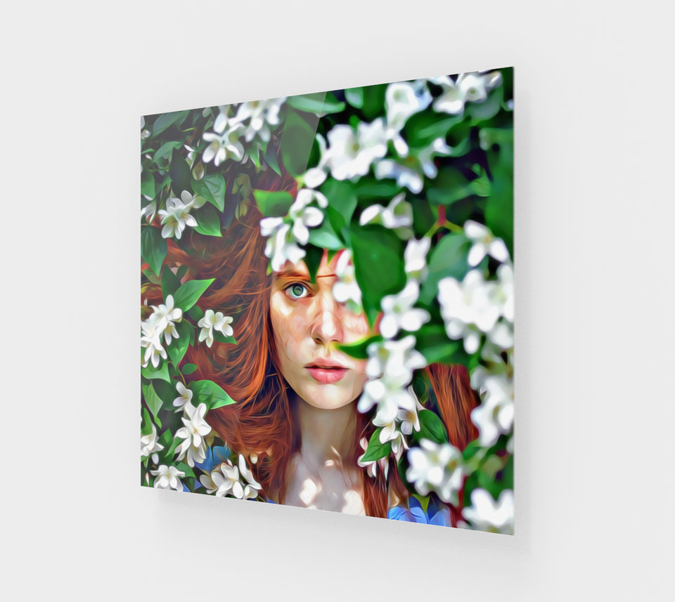 The Girl In The Secret Garden [Acrylic Wall Art Decor]
