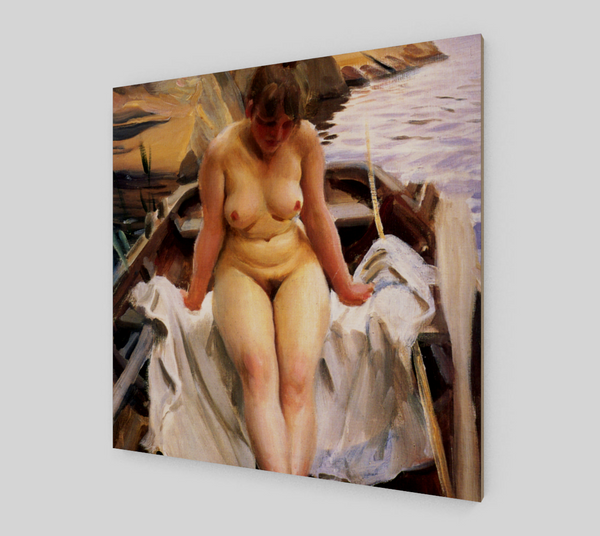 Woman in a boat by Anders Zorn | Canvas Fine Arts