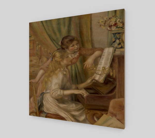 Girls at the Piano by Pierre-Auguste Renoir | Fine Art Replica