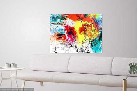 Buy famous artwork Abstract Expressionism Artists Oil painting - An abstract multicolored painting representing the movement of oil