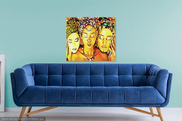 The Three African Sisters Black Women Painting