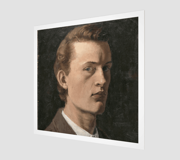 Buy famous artwork Edvard Munch Self-portrait 1882 - a self-portrait painting of Edvard Munch