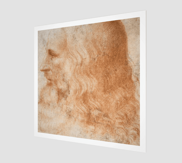 Buy famous artwork Leonardo da Vinci Portrait - A painting of an old Leonardo da Vinci portrait