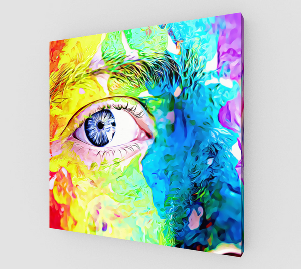 Rainbow Face Canvas