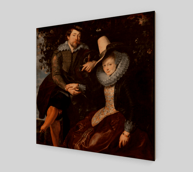 Buy famous artwork The Honeysuckle Bower Peter Ruben - A painting of a man and woman sitting together