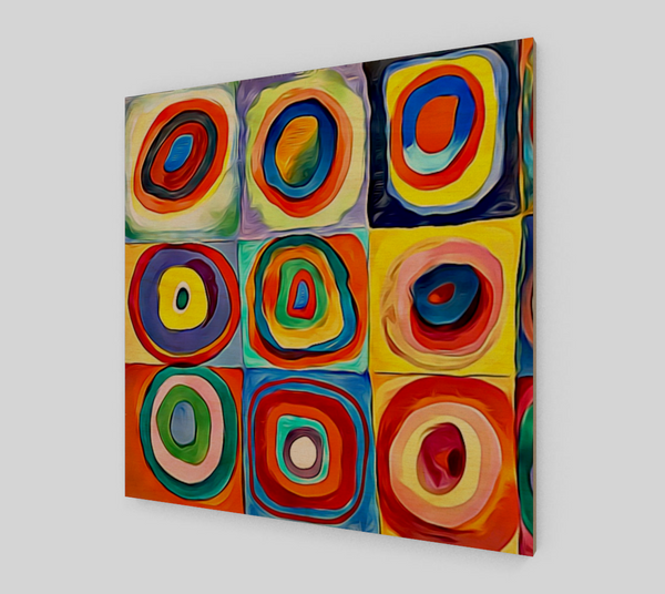 Squares with Concentric Circles Art