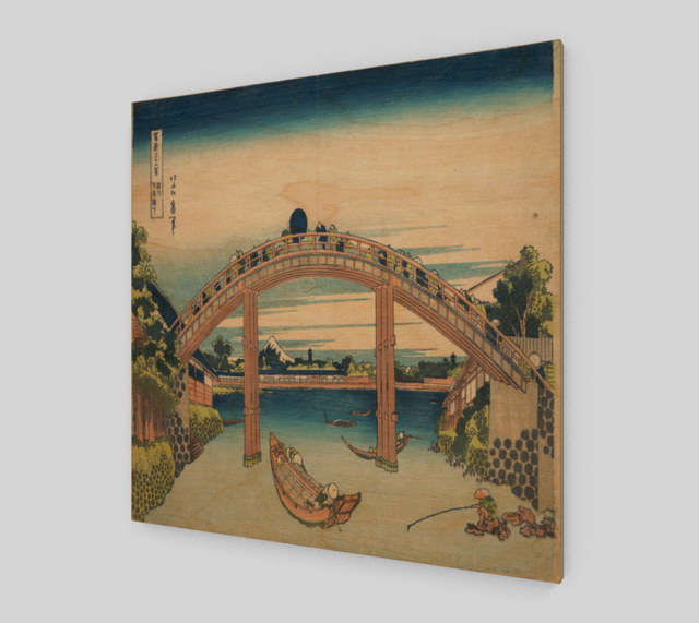 Under the Mannen Bridge at Fukagawa by Katsushika Hokusai
