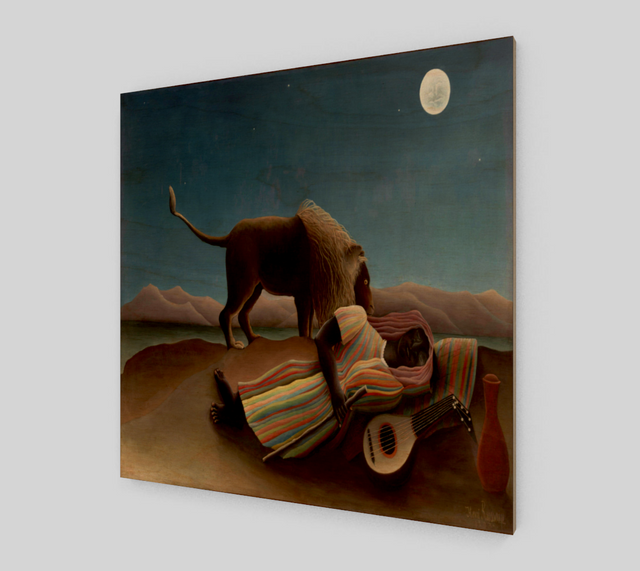 The Sleeping Gypsy by Henri Rousseau [Art Reproductions]