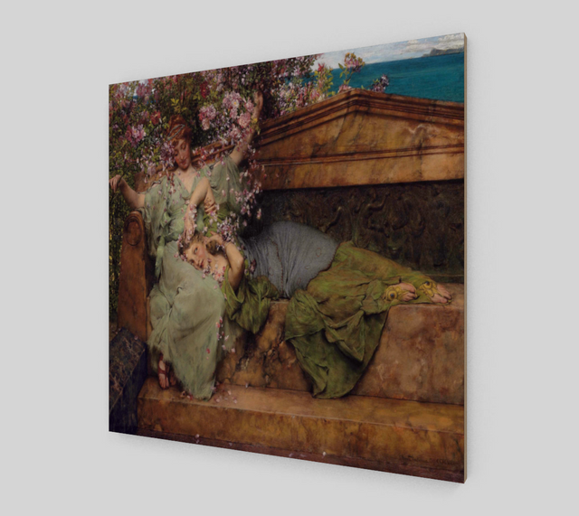 In a Rose Garden by Lawrence Alma Tadema | Fine Arts Prints