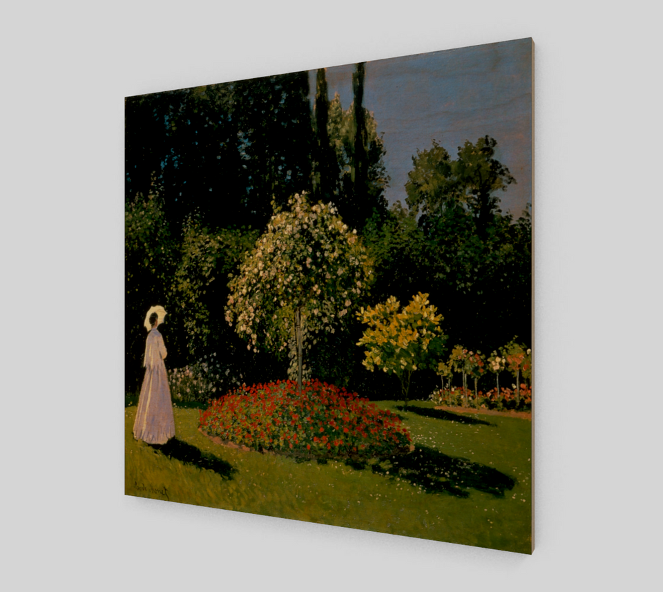 Woman in a Garden by Claude Monet