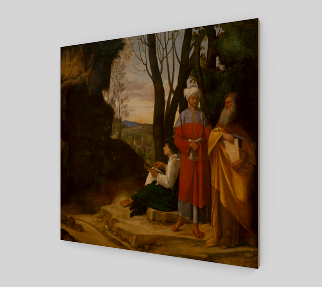 The Three Philosophers by Giorgione - Famous Painting