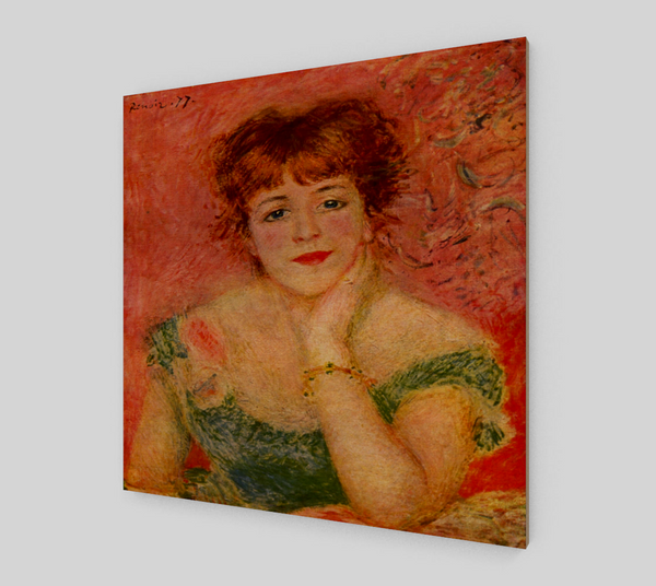 Portrait of Jeanne Samary by Pierre-Auguste Renoir Painting