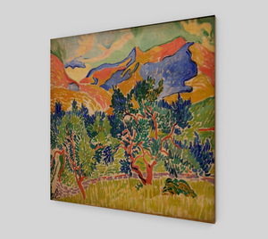Mountains at Collioure Painting by André Derain [Wooden Canvas Prints]