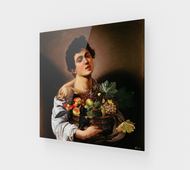 Boy with a Basket of Fruit by Caravaggio [Acrylic Wall Art Decor]