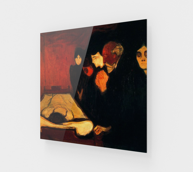 Edvard Munch, By The Death Bed [Acrylic Wall Art Decor]