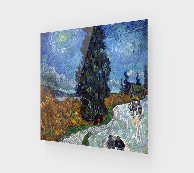 Country Road in Provence by Night by Vincent van Gogh [Acrylic Wall Art]