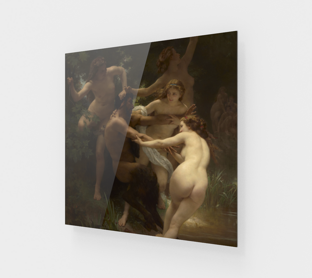 Nymphs and Satyr by William-Adolphe Bouguereau [Acrylic Wall Art]