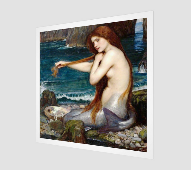 A Mermaid by John William Waterhouse | Fine Art Reproductions