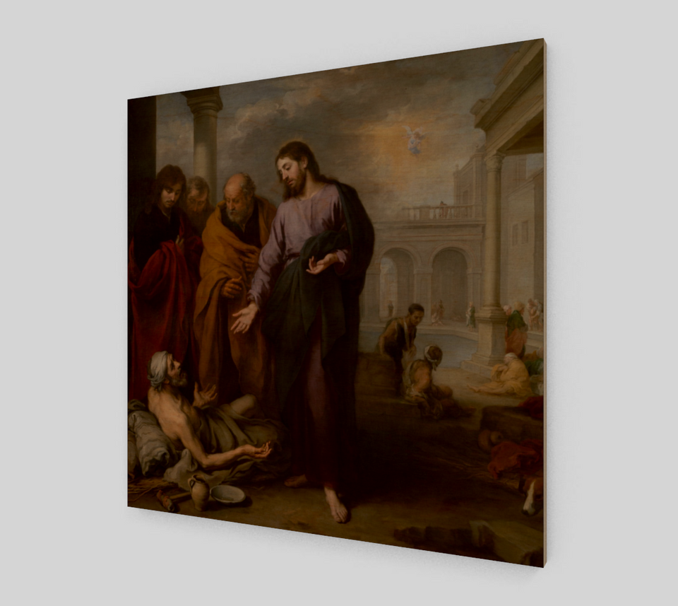 Christ Healing by Bartolome Esteban Murillo | Canvas Fine Arts
