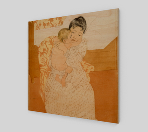 Maternal Caress - Mary Cassatt [Wooden Canvas Prints]