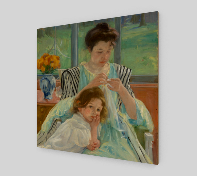 Young Mother Sewing by Mary Cassatt | Fine Art Reproductions