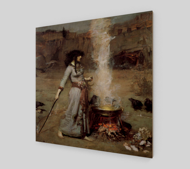 The Magic Circle Painting by John William Waterhouse