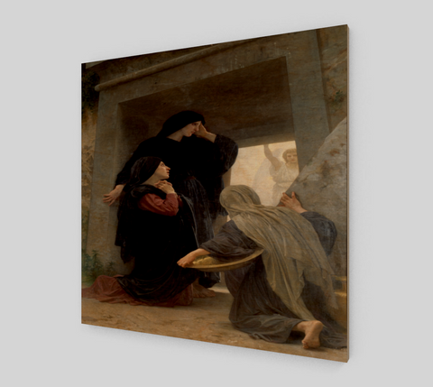 Le saintes femmes au tombeau by William-Adolphe Bouguereau [Wooden Canvas Prints]