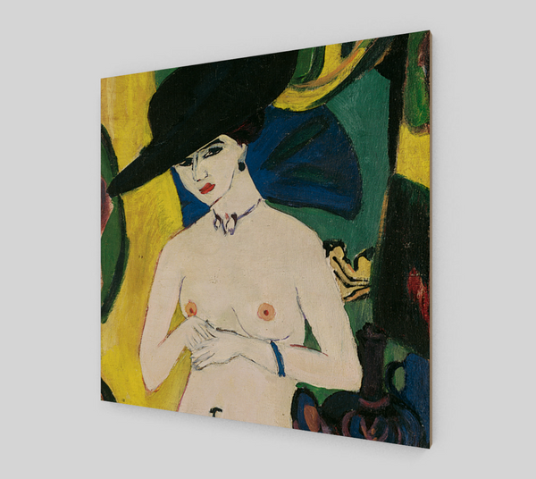 Standing Nude with Hat by Ernst Ludwig Kirchner | Canvas Fine Arts