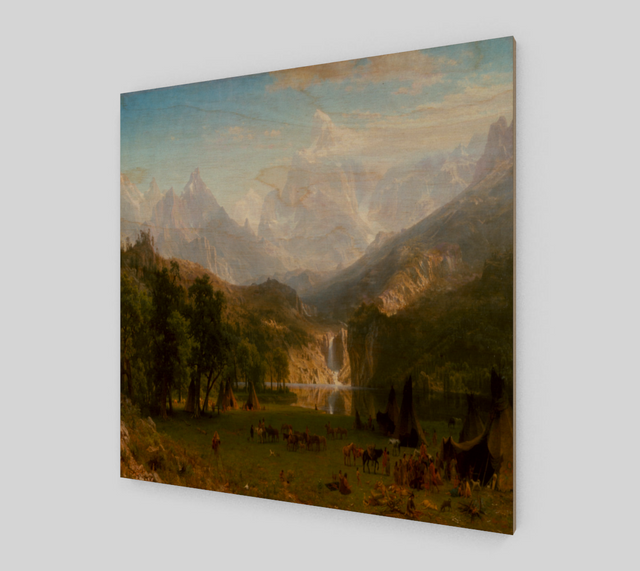 The Rocky Mountains by Albert Bierstadt [Art Reproductions]
