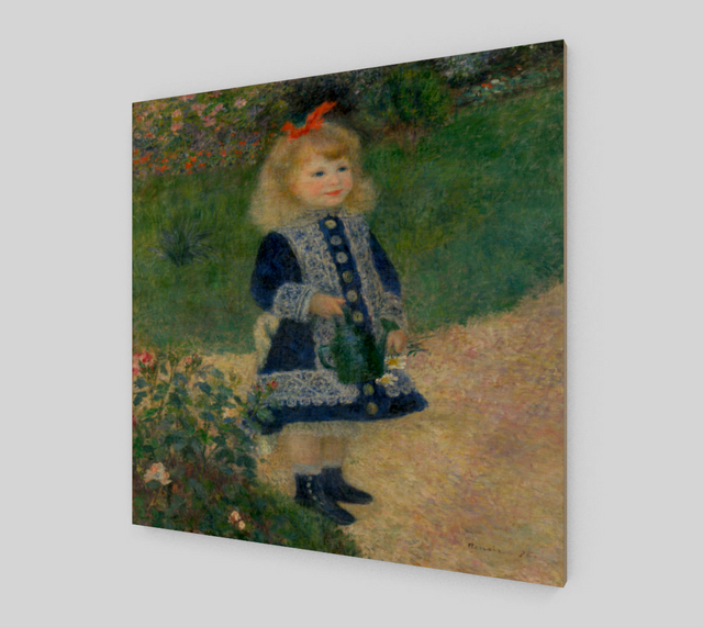 A Girl with a Watering Can by Pierre-Auguste Renoir Painting