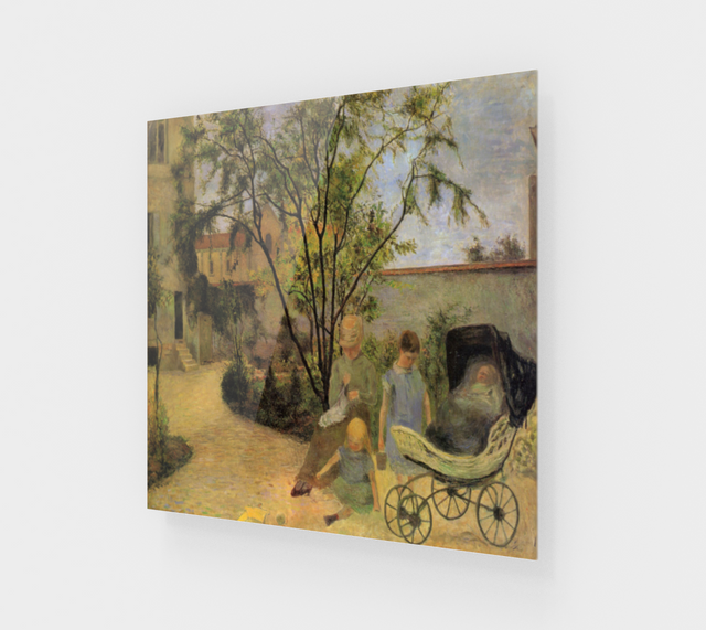 Garden in Vaugirard by Paul Gauguin | Acrylic Wall Art Decor