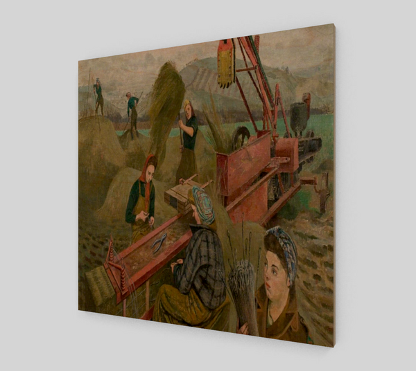 Baling Hay by Evelyn Mary Dunbar | Canvas Fine Arts