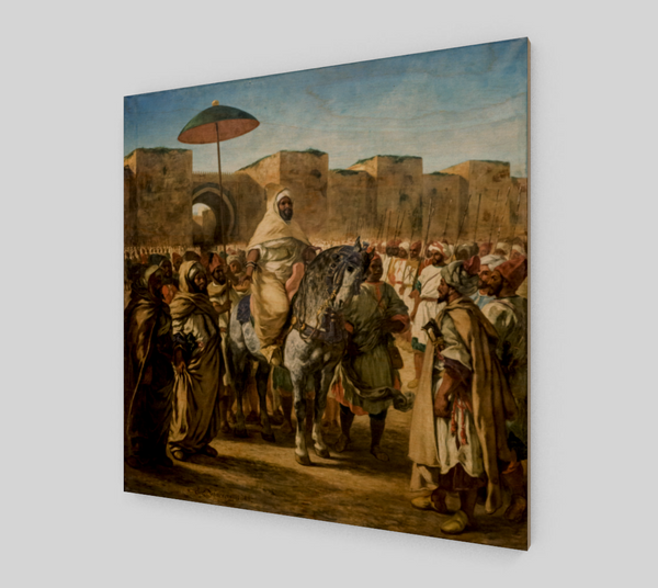 The Sultan of Morocco by Eugène Delacroix