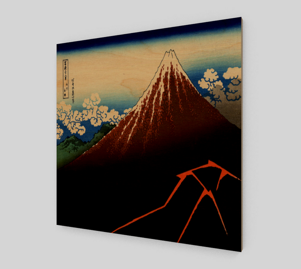 Rainstorm Beneath the Summit by Katsushika Hokusai [Art Reproductions]