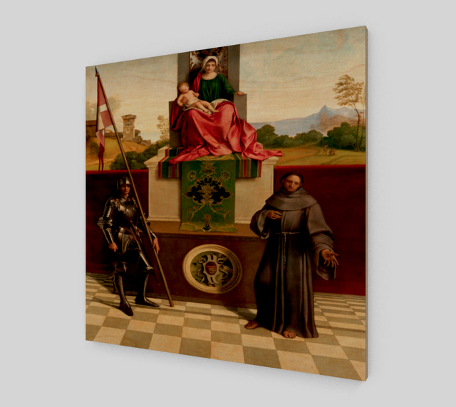 Castelfranco Madonna (Pala di Castelfranco) by Giorgione - Famous Painting